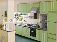 1986 Commercialized  enamel system kitchens with stainless steel surface